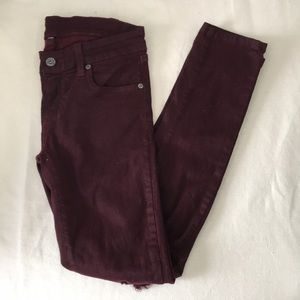 Maroon Jeans